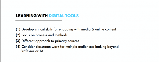 Teaching with Digital Tools